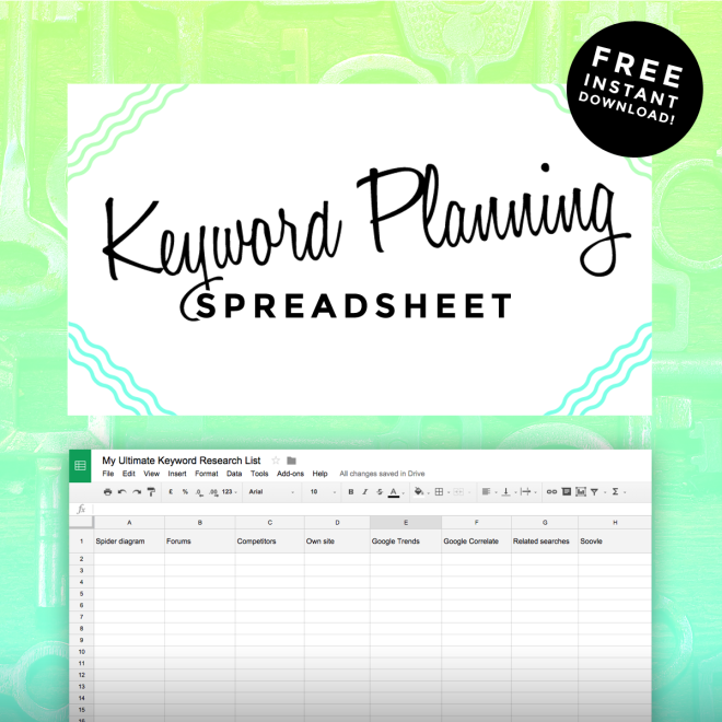 keyword planning tools spreadsheet