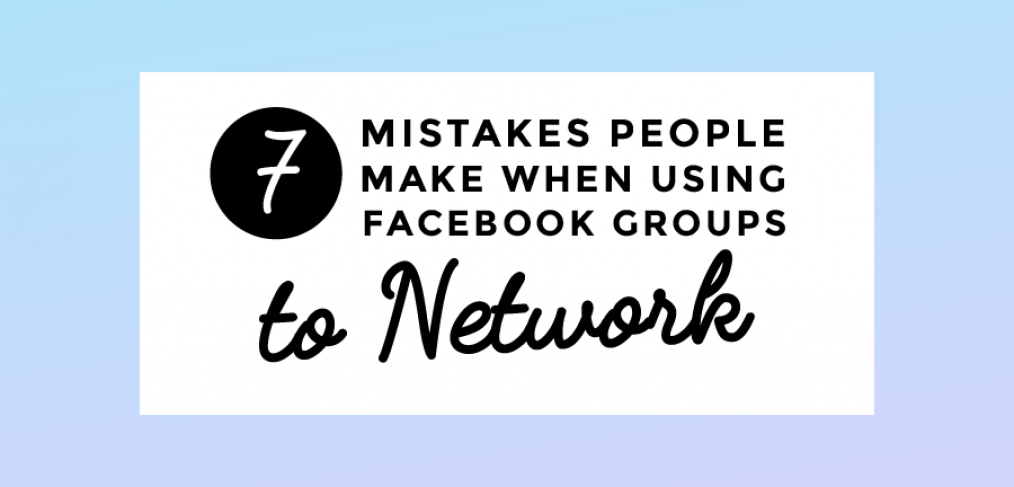 Mistakes People Make When Using Facebook Groups