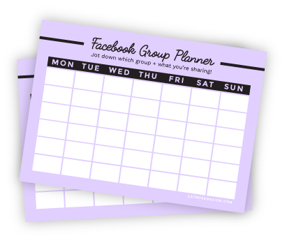 Facebook Group Planner